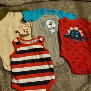 New Carter/'s 3 Pack Bodysuits Red Truck Double Bus NWT 6 12 18 24m Just One You